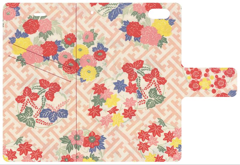1・帆船 2・花車の内側 紗綾型に花丸紋