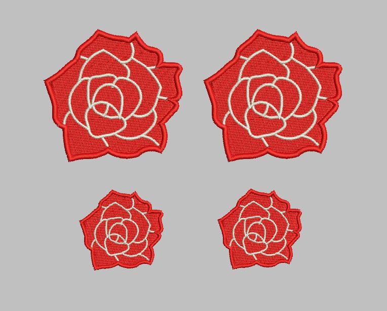ご覧いただきありがとうございます! 鮮やかな薔薇のワッペンいかがですか? クリックすると他の色もご覧頂けます。  ユニホームに映えます♪ 素敵ですよ^^  目立つこと間違いないありません! 薔薇大2枚、薔薇小2枚 一セットのお値段です。   刺繍素材ですので、洗濯による縮みやぼあつきもなく丈夫です。  アイロンで接着出来ます。   サイズ 薔薇大     約直径5cm。         小        約3cm。