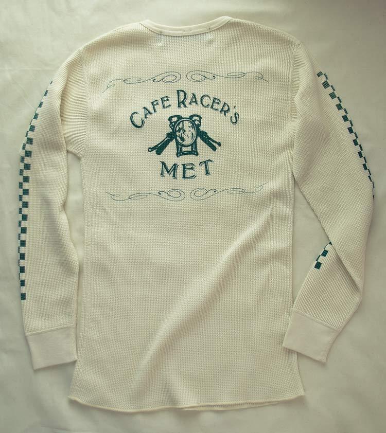 【Cafe Racer's MET】L/S Thermal(Back Print) Back View