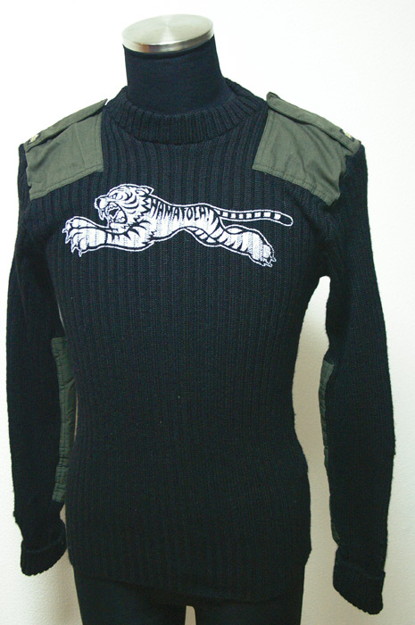 Patted Motorcycle Knit Sweater Front