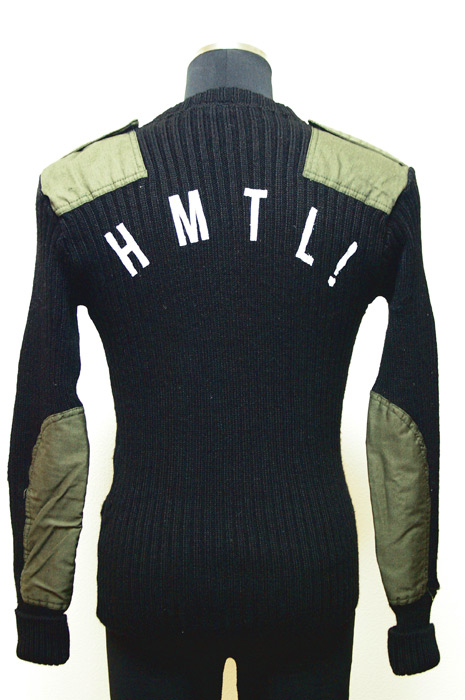 Patted Motorcycle Knit Sweater Back