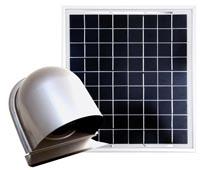 完全独立型ソーラー換気ユニット、温度センサースイッチ付