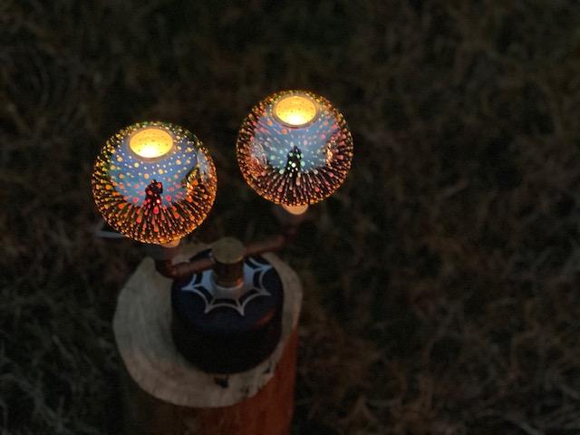 2灯使用時