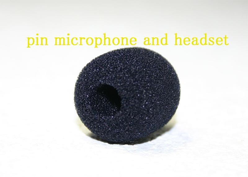 黒色ヘッドセット&ピンマイク共通交換スポンジ
