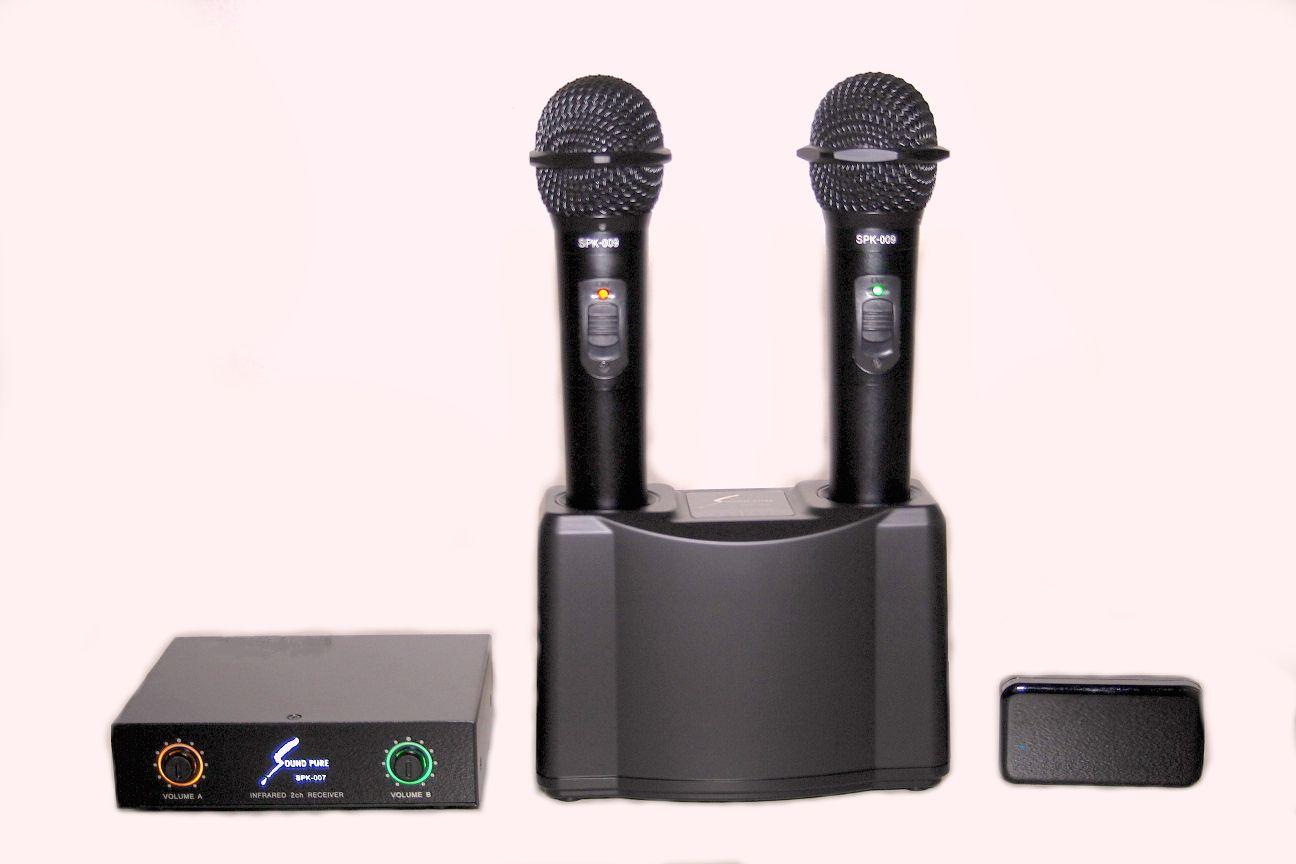 マイク2本+レシーバー+受光器+充電器+オール1特別価格セット