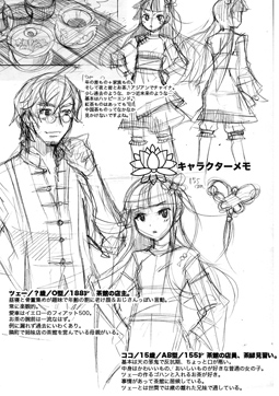 キャラクターメモページ