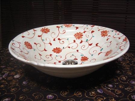 美濃焼きの手洗い鉢