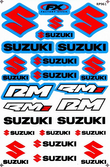 SUZUKI RM ステッカー B5 N176