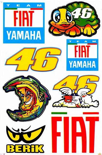 YAMAHA 46 FIAT Valentino Rossi ステッカー B5 N213