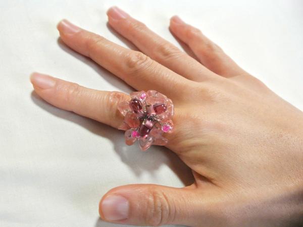 お花の指輪(ローズ)