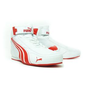 WHITE/PUMA RED