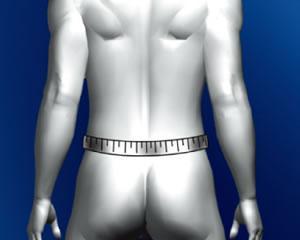 腰骨の上部周囲を計測してください
