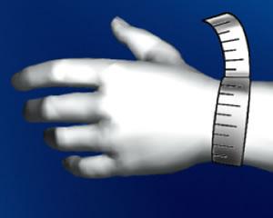 手首の一番細い部分を計測してください