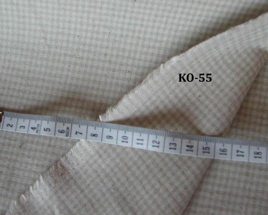 KO-55綿麻スモールギンガム<BR>麻20%<BR>110cm幅<BR>¥820/m(税抜き価格)<BR><BR><BR>とってもしっかりした布です<BR>Bagやエプロンに最適です