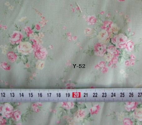 ブロード 花  90cm幅  ミントグリーン<br /> ¥350/0.5m<br />1mご注文の場合 注文数2になります.