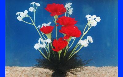 メダカの産卵藻 はなさくデザラン(花束タイプ カーネーション) 1個。