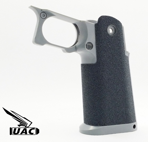 """<p><strong>メーカー:UAC(<span lang=""""EN-US"""">Ultimate Airsoft Custom company <br>Limited<u></u><u></u></span>)<br><br>同社<a href=""""http://www.tac-element.com/ca334/3556/p-r334-s/"""">Sculptor Grip</a>用アンチスリップ・グリップテープ<br>ブラックとグレーの2枚セット。</strong></p><p><strong>写真は貼り付け例です。</strong><br></p><p></p><p></p>"""