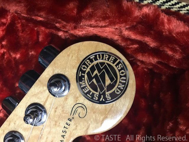 イメージ画像。ギターのヘッドに貼ったり。