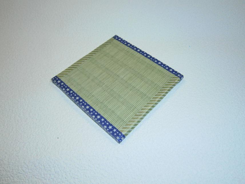 和紙表2枚合わせ 8Cm×8Cm 縁付きコースター