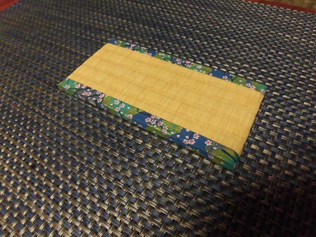 和紙表 8Cm×16Cm小物置き畳 裏タイルカーペット