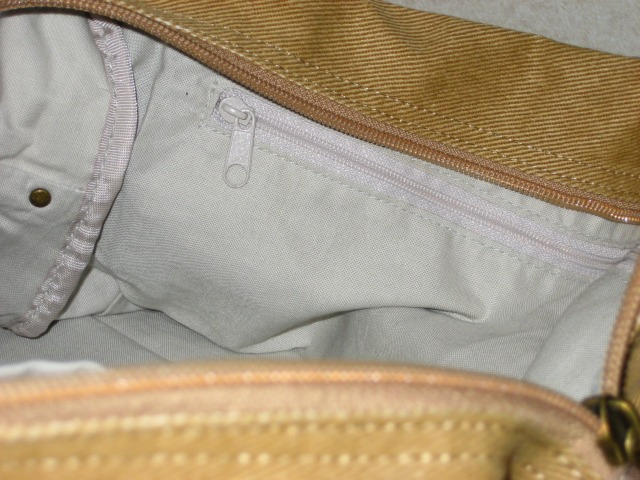 携帯、小物、ファスナー付きポケット