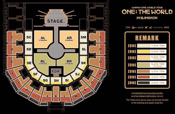 Wanna One World Tour <ONE : THE WORLD> in Bangkok