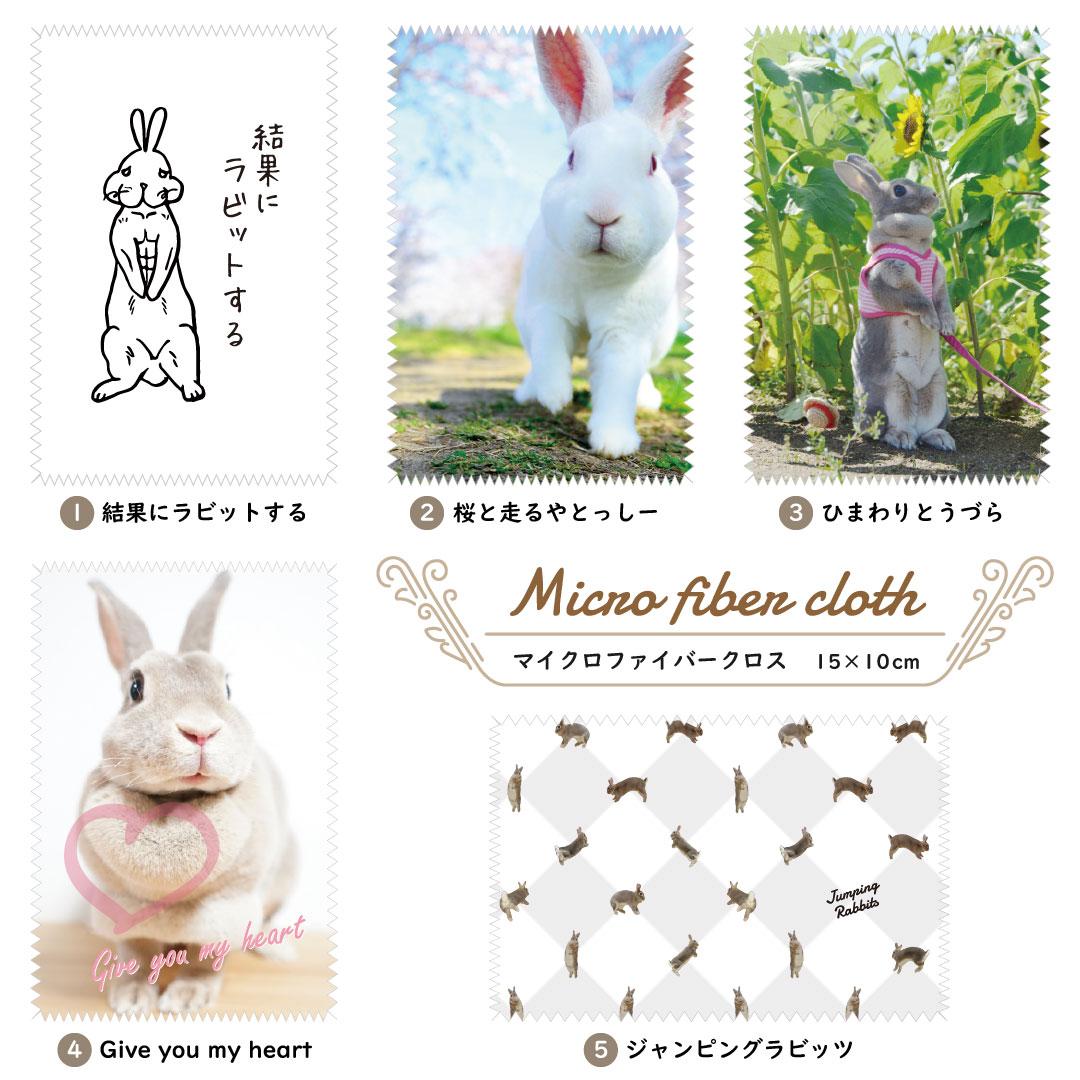 """<p>Time is Bunny(タイムイズバニー)のオリジナルうさぎデザインマイクロファイバークロス(メガネ拭き・レンズ拭き)15cm×10cmモデルです。<br>デザインは写真やイラストなど現在、計5種類(結果にラビットする、桜と走るやとっしー、ひまわりとうづら、Give you my heart、ジャンピングラビッツ)ございます。<br>安心の国内加工製品ですので、品質も非常に良いものを使用しています!</p><p><br>マイクロファイバーとは、髪の毛の266分の1という超極細繊維で以下の特徴を備えています。<br>・吸水力に優れ、綿の3倍の水を吸い取ります<br>・乾燥が早く、綿の7倍の早さで水分を放出します<br>・細かい汚れや、油膜の除去に優れています<br>・繊維が細かいため、ダニを寄せ付けません</p><p><br>・メガネやグラス・鏡などのガラス製品の汚れ拭き<br>・携帯電話・スマートフォン(スマホ)やカメラなど、精密機器の汚れ拭き<br>・楽器などの指紋や汚れ拭き<br>など、身近なもののちょっとした拭き掃除にご利用ください!</p><p style=""""""""><br>【サイズ】15cm × 10cm<br>【素材】マイクロファイバークロス<br>【注意事項】<br>※画像はイメージのため、多少変更になる可能性があります。<br>※製品には多少の個体差があります、ご了承ください。</p><p><br></p>"""