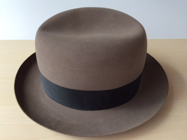 f123d91314b Lock   co Hatters Brooks Brothers Khaki Fedora Homburg Hat - TIP ...