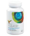 <FONT lang=JA face=HiraMinPro-W3-Identity-H><BR><P align=left><FONT color=#0000ff><U><B>28種類のビタミン、ミネラル及び25種類以上の関連栄養素が手軽に摂れます!!</B></U></FONT></P><P align=left>カルシウム、鉄、リン、カリウム、ナトリウムを除く全ての必須ビタミン・ミネラルの1日の推奨摂取量を100%満たしています。</FONT></P><P align=left><FONT lang=JA face=HiraMinPro-W3-Identity-H>(※</FONT><FONT lang=JA face=HiraMinPro-W3-Identity-H>鉄分は、余分な活性酸素の生成に関与していることから敢えて配合していません。リン、カリウム、ナトリウムは、あまり質の高くない食事でも多く含まれているミネラルであるため、除外されています。)</FONT><FONT lang=JA face=HiraMinPro-W3-Identity-H><BR></P><P align=left>市販製品の多くは、マルチビタミン製品に安価な化学合成ビタミンDとビタミン Eを使用していますが<FONT color=#ff0000><B>TVMプラスに配合されているビタミンD・Eは、<U>天然型のみ</U>です。</B></FONT></P><P align=left>さらに、<B>ビタミンA・C・E</B>に加えて、<B>レモンビオフラボノイド、天然カロチンエキス、アルファリポ酸、ルテイン、リコピン、ヘスペリジン、ルチン、コケモモ果実エキス、ローズヒップ、アセロラ果実</B>など</P><P align=left>一般的マルチサプリ製品には含まれていない価値ある<B>抗酸化物質</B>も配合されています。</P><P align=left>これほどの成分を配合したマルチサプリメントは他に例をみません。</P><P align=left>他にもTVMプラスには、<B>アルファルファ、パセリ、エゾウコギ根、オランダガラシ葉</B>など、重要な<B>ハーブ</B>が含まれています。</P><P align=left>さらにフラボノイドなどの栄養素の消化・吸収を高めるため、<B>パパイヤとパイナップルから抽出した酵素の濃縮物</B>も配合されています。</FONT><BR><BR><b>※人工保存料、糖分、でんぷん、カフェイン、塩分、小麦、グルテン、酵母、とうもろこし、牛乳、卵、甲殻類、大豆エキス、人工甘味料、香料、着色料は一切使用しておりません。</b></P>