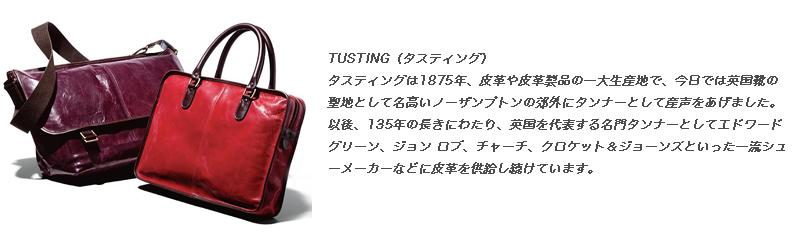 新作TUSTING『タスティング』英国製のオールレザーバック。正規取扱店
