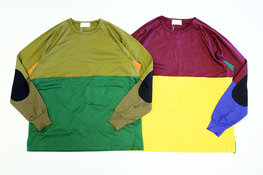 """ヨーロッパの厳選された糸を使用し、素材の良さや完成度高さを肌で感じることの出来る商品を生み出す Soglia (ソリア) から、キメ細やかでスムースな肌触りに抜群な発色のコットン天竺生地を使用し、5色のカラーを独特のカッティングで組み合わせたデザインやゆとりのあるビッグなシルエットが特徴的なロングスリーブTシャツ<span style=""""font-size: 10pt;"""">の入荷になります。</span><div><span style=""""font-size: 10pt;""""><br></span></div>"""