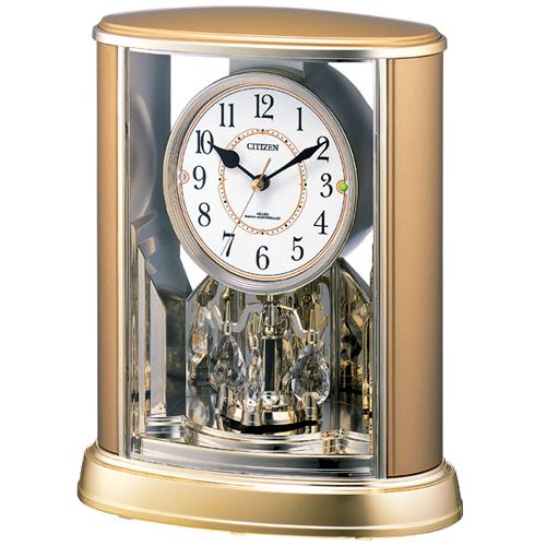 【シチズン パルドリームR659電波置時計4RY659-018】<BR>誤差ゼロで駆動する電波修正置時計です。<BR>回転飾りが優雅に動くギフトに最適な時計です。<BR><B><FONT color=red size=2>37.2%OFFの特別価格</FONT></B>でご提供します。<BR>メーカー希望小売価格8,000円+税