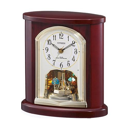"""【シチズン パルロワイエR681電波置時計4RY681-006】<br>誤差ゼロで駆動する電波修正置時計です。<br>落ち着いた木枠の高級光沢仕上げに回転飾り(スワロフスキー・クリスタル使用)が優雅に動くギフトに最適な時計です。<br><b><font color=""""red"""" size=""""2"""">35%OFFのネット限定特別価格</font></b>でご提供します。<br>メーカー希望小売価格25,000円+税"""