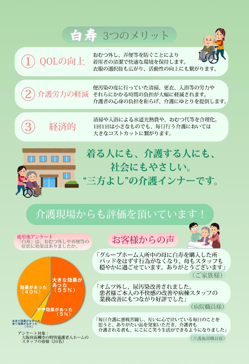 「快適・介護インナー白寿」 パンフレット(2)