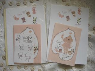 Usagiya Honpo<br />オリジナルの動物イラストを描いたレターセット。<br />1セット内容<br />便箋10枚 封筒5枚 シールシート1枚<br />便箋H21XW14.5cm<br />封筒H14XW10cm