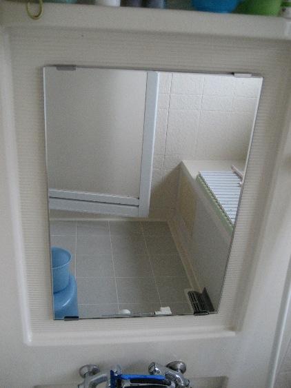 ウロコが付きがちな浴室の鏡もこの通り!