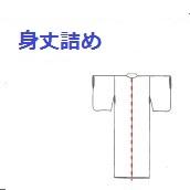 身丈詰め※身丈詰めつきましては、お着物、羽織、コートが対象になります