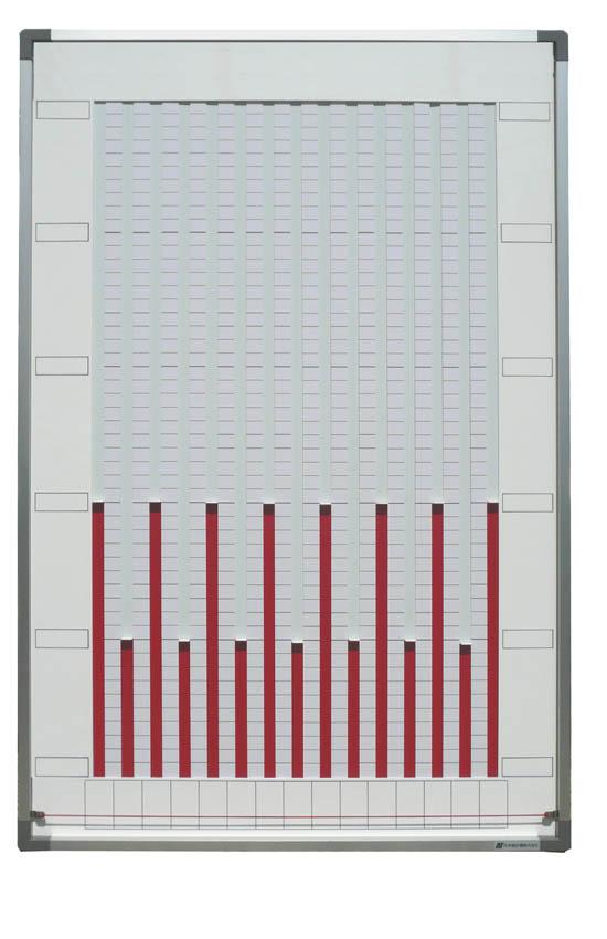 1色15桁<br />寸法 W605×H905<br /><br />つまみを持って上下するグラフになります。<br />縦型で使用して下さい。