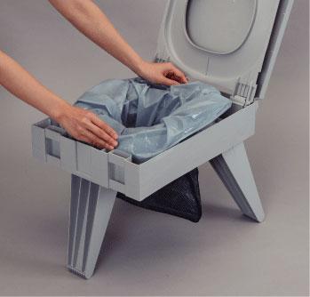 トイレセットの装着も簡単に出来ます!