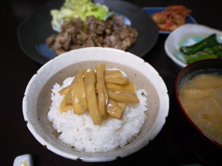 味付けメンマとごはん(1)