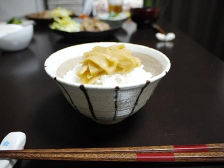 味付けメンマとごはん(2)