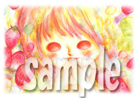 よろしこガール☆とイチゴ(フルーツよろしこ)