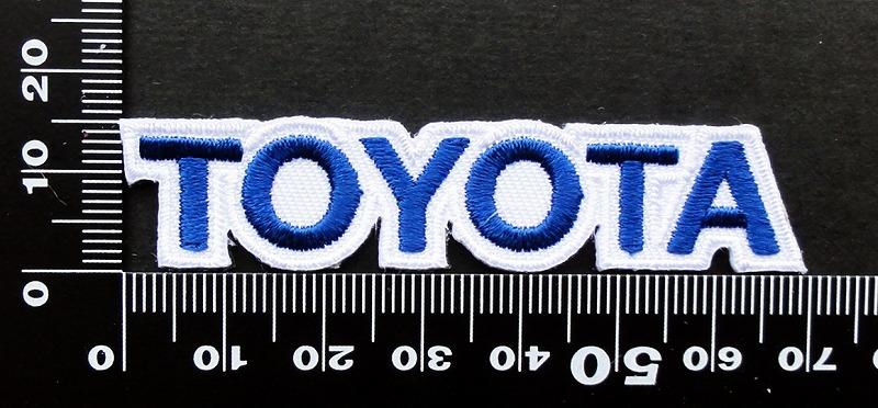 トヨタ TOYOTA ワッペン (青1)