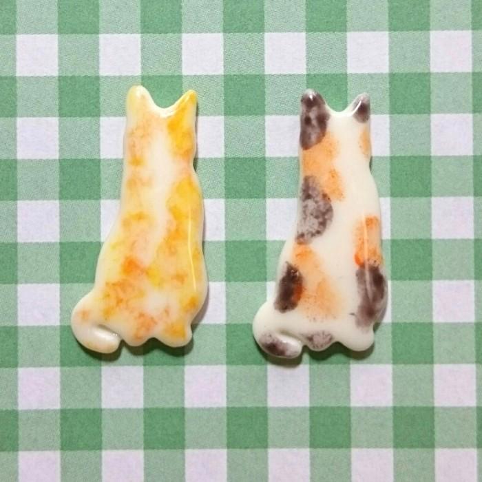 シリコンモールド【ネコ(小)②】レジン・銀粘土・食品