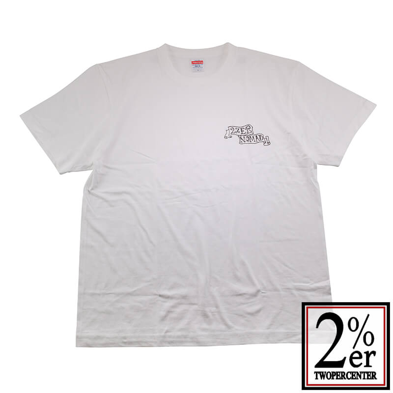 2%er (ツーパーセンター)【Original NOMAD TEE】WHT【オリジナル Tシャツ】