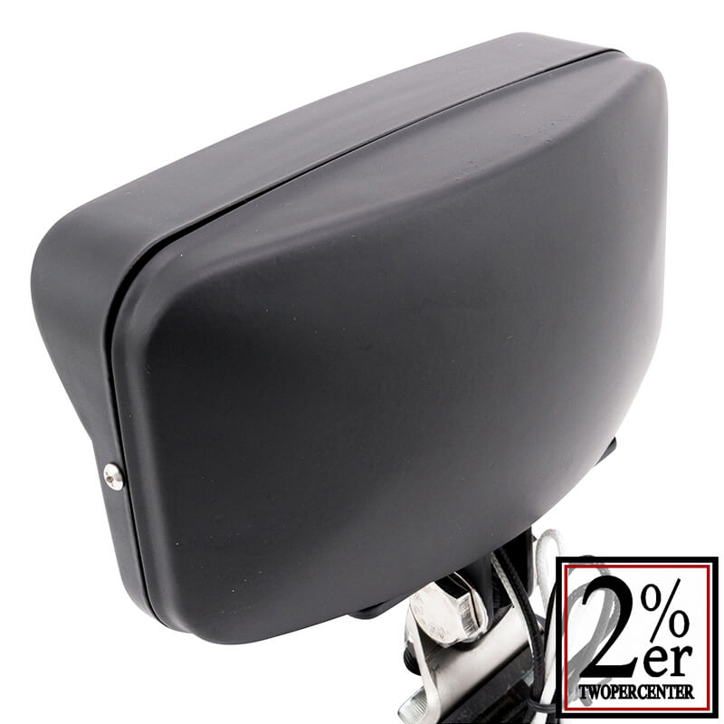 ビンテージスタイル スクエアヘッドライト ブラック 汎用