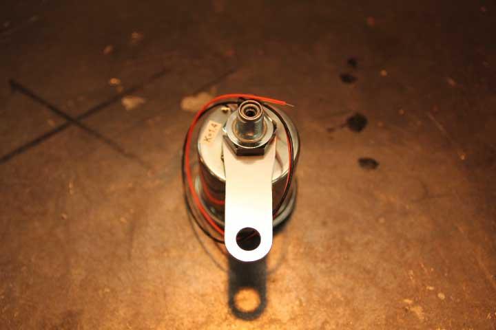 【Mechanical Speed Meter】機械式スピードメーター【Black panel】φ48mm【トリップ無 1:4】汎用
