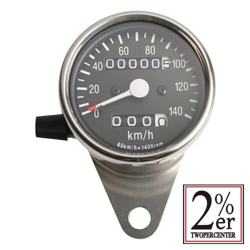 機械式スピードメーター 60㍉ ブラックパネル 1:4