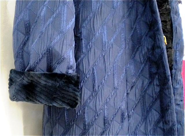 シルクウール/ファーライニングコート