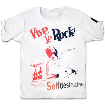 10th anniv.JOE ALCOHOL VIVE LE ROCK T-Shirts  RED&BLACK